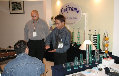 trade fair in Malaysia introducing our new trophy design