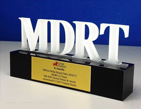 MDRT trophy – supplier excellence award – crystal trophy – crystal plaque – top sales award