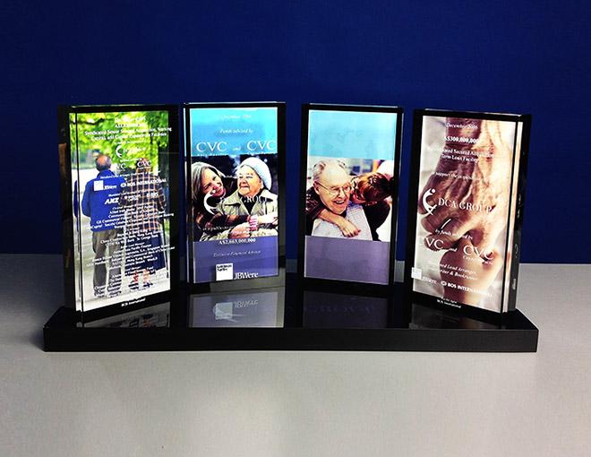 Custom design plaque, POS display, custom desktop display,
